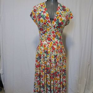 1/2 OFF SALE Vintage Vneck Maxi Dress